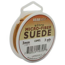 Ultra Micro Fiber Suede Lace, 3.0mm x 1.0mm, Camel, (3-yard spool)