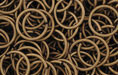 Brass Oxidized Jump Ring, Round, 10mm exterior diameter, 19-gauge, (20 pieces)