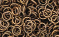 Brass Oxidized Jump Ring, Round, 6mm exterior diameter, 19-gauge, (20 pieces)