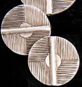 Linear Disk Bead, Pewter, 29mm, Metal Beads-Ethnic-Greek/Mediterranean/N.African, (1 bead)