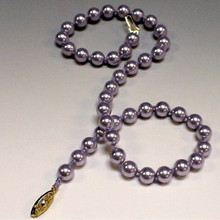 PEARL KNOTTING INSTRUCTIONS DOWNLOAD, 8mm Swarovski Pearls and Silk Bead Cord, (1 unit), (CLICK ADD TO CART BUTTON)