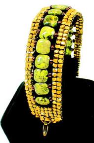 Brass / Gemstone / Green Stone