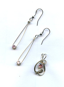 WIRE SWIRLED PENDANT AND EARRINGS CLASS (class and kit)