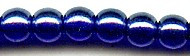 4mm Round Druk, Czech Glass, cobalt luster, (100 beads)