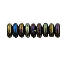 4mm RONDELLE DRUKS (saucer shape), Czech Glass, brown iris, (100 beads)