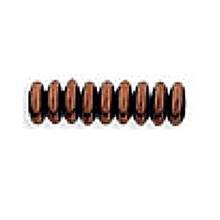 4mm RONDELLE DRUKS (saucer shape), Czech Glass, bronze dark, (100 beads)