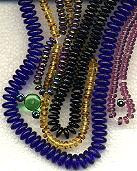 6mm RONDELLE DRUKS (saucer shape), Czech glass, jet/silver, (100 beads)