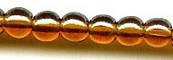 4mm Round Druk, Czech Glass, smoke topaz luster, (100 beads)