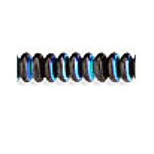 8mm RONDELLE DRUKS (saucer shape), Czech glass, jet ab, (100 beads)