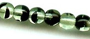 6mm Round Druk, Czech Glass, green tortoise, (100 beads)