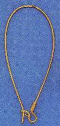 Kidney wire, large, 46mm, gold-plate, (12 pc)