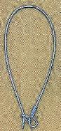 Kidney wire, large, 46mm, imit. rhodium plate, (12 pc)