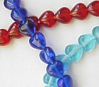 6mm Glass Heart Beads, amethyst, (50 beads)