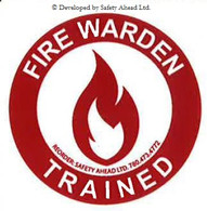 Fire Warden Trained - Sticker