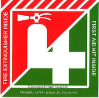 Fire Extinguisher/First Aid Kit Inside - Sticker