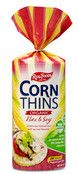 Real Foods Corn Thins Organic Flax & Soy