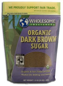 Wholesome Sweeteners Organic Dark Brown Sugar, 24 oz.