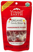 Yummy Earth Organic Candy Drops Pomegranate Pucker, 3.3 oz (Pack of 6)