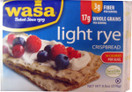 Wasa Light Rye Crispbread, Case of 12 x 9.5 oz.