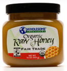 Wholesome Sweeteners Organic Raw Honey, 16 oz.
