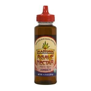 Madhava Organic Agave Nectar Amber, 11.75 oz. (Pack of 12)