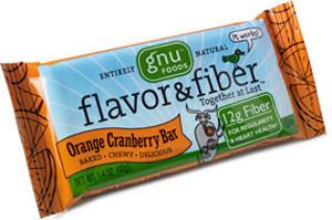 gnu flavor fiber bar orange cranberry 1 6 oz pack of 5 whole and natural. Black Bedroom Furniture Sets. Home Design Ideas