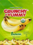 Crunchy n Yummy Organic Freeze Dried Fruit Banana, 1 oz.