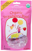 Yummy Earth Organic Strawberry Pops, 3 oz (Pack of 12)