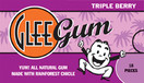Glee Gum All Natural Gum Triple Berry, 16 Pieces