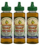 Madhava Organic Agave Nectar Raw, 11.75 oz. (Pack of 3)