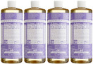 Dr. Bronners Magic Soap Pure Castile Oil Hemp Lavender, 32 oz. (Pack of 4)