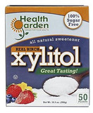 Health Garden Real Birch Xylitol Kosher for Passover, 50 packets