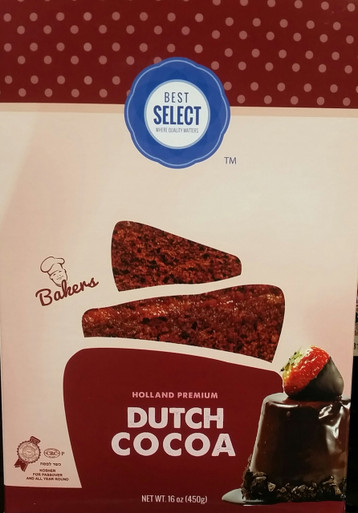 Best Select Holland Premium Dutch Cocoa, Kosher for Passover 16 oz.