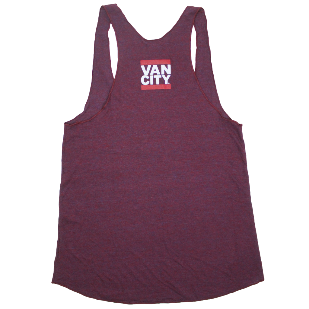 UnDMC Women's Tri-Blend Racerback Tank Top - Cranberry