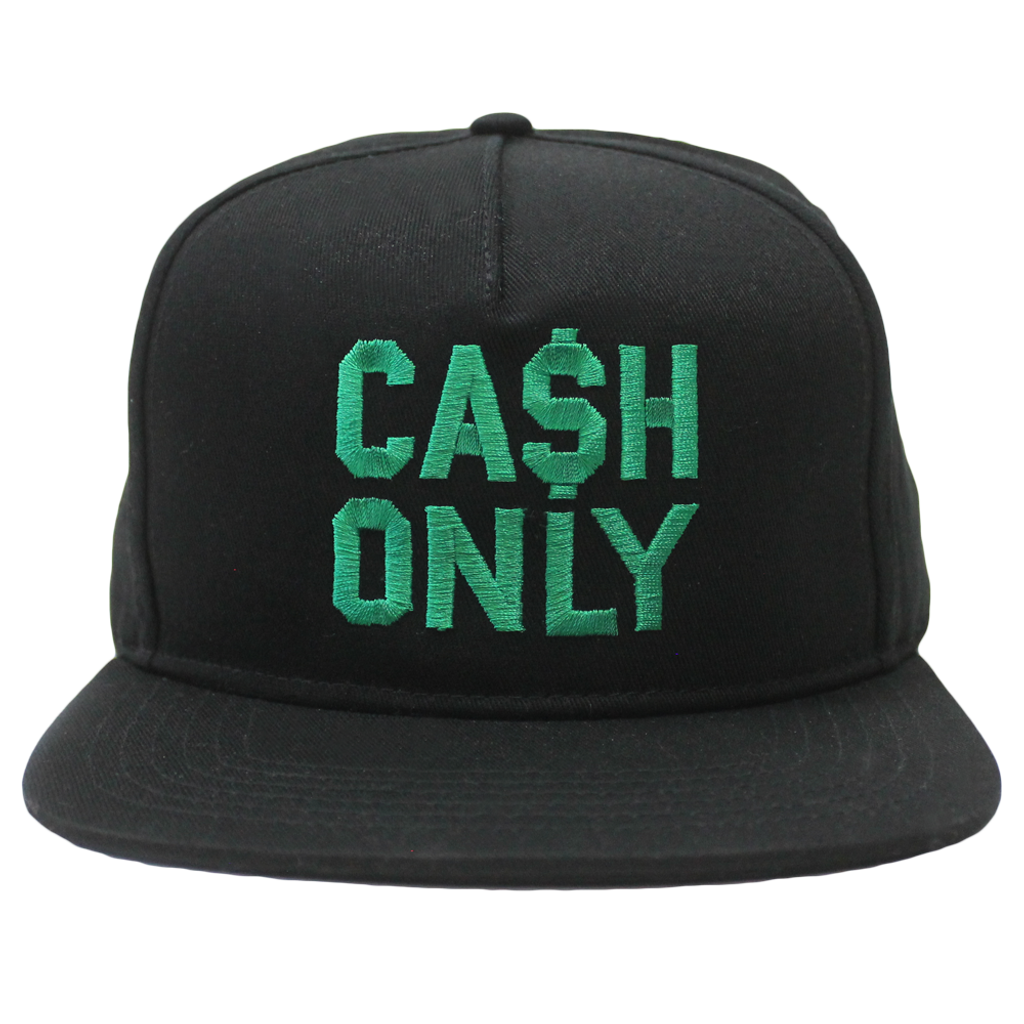CA$H ONLY 5 Panel Snapback - Black