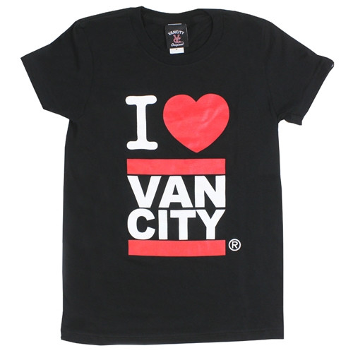 I Heart Vancity Black Tee Shirt