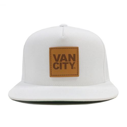 Vancity Original Leather Patch White 5 Panel Snapback