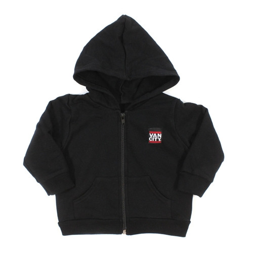 Vancity® Baby Label Zip Up Hoodie - Black
