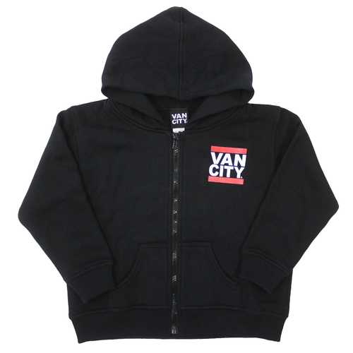 Toddler Zip Up UnDMC Hoodie - Black