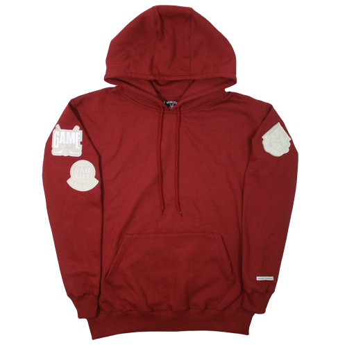 Vancity Original® Game Changers Patch Hoodie in Ox Red - Front