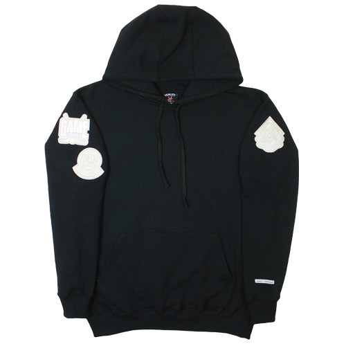 Vancity Original® Game Changers Patch Hoodie in Classic Black - Front
