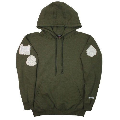 Vancity Original® Game Changers Patch Hoodie in Army Green