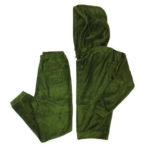 Vancity Original® Game Changers Velour Suit in Money Green - Set