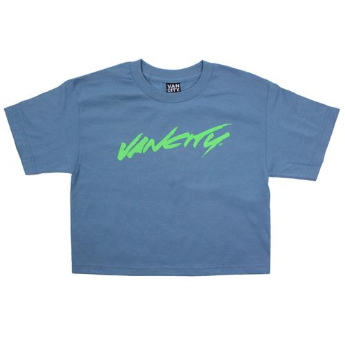 Vancity® Surf Crop Tee - Slate Blue