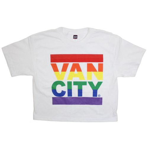 Vancity® Love Crop Tee - White