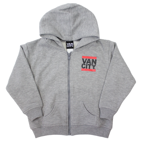 Toddler Zip Up UnDMC Hoodie - Heather Grey