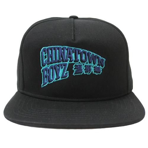 Chinatown Boyz III 5 Panel Snapback - Black