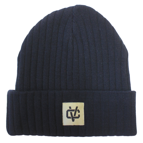 VC Link Ribbed Beanie - Navy