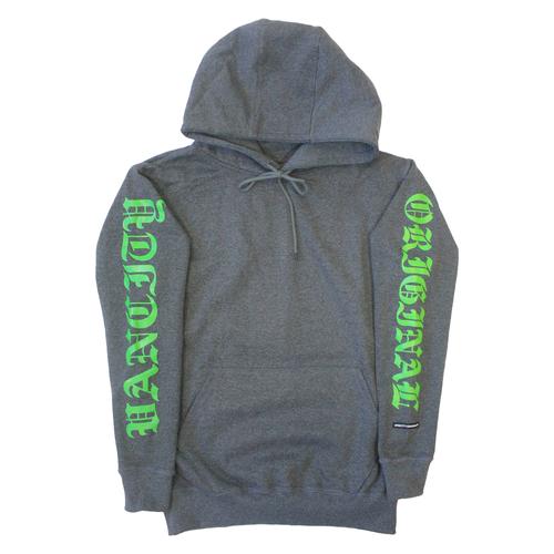 OG Sleeve Hoodie - Charcoal/Green