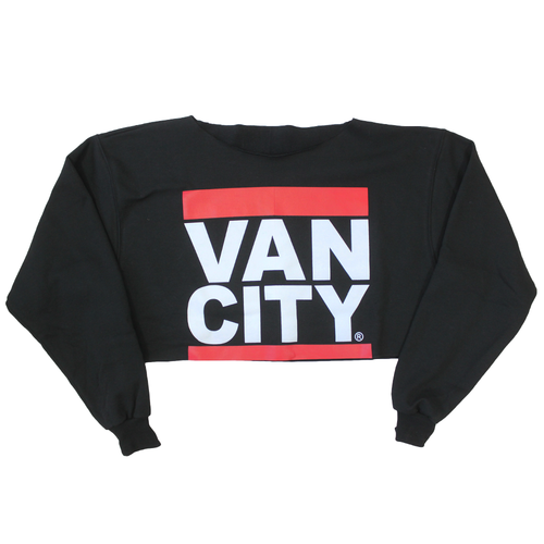 UnDMC Crop Sweatshirt - Black